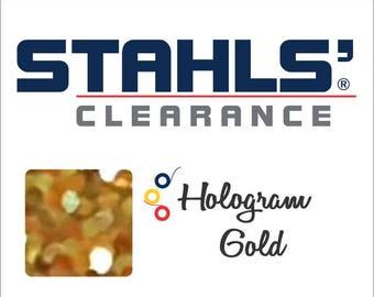 "8"" x 10 Yards - Stahls' Hologram - Craft Roll - Iron-on - Heat Transfer Vinyl - HTV - Gold"