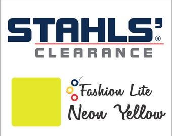 "12"" x 4 Yards - Stahls' Fashion Lite - Smooth - Craft Roll - Iron-on - Heat Transfer Vinyl - HTV - Neon Yellow"