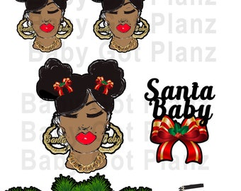 Santa Baby Die Cut, Sticker Printable
