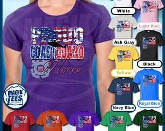 Proud Coast Guard Mom T-Shirt