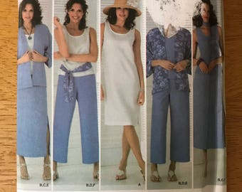 Simplicity 4552 - Easy to Sew Loungewear Collection with Skirt, Cropped Pants, Dress or Top, Kimono, Scarf or Sash - Size 20 22 24 26 28