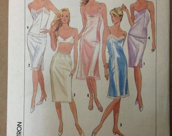 Simplicity 9374 Easy Essentials Lingerie Full or Half Slip and Camisole - All Sizes