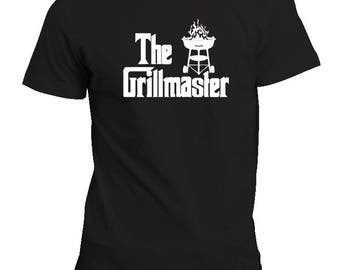 The GrillMaster Mens Shirt - Perfect Fathers Day Gift! Godfather Style! Unique BBQ Grilling Grill Shirt!   S M L XL XXL