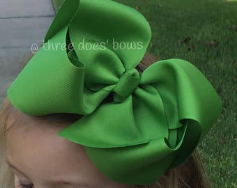 "Jumbo Bow - XXL Jumbo Hair Bow - Big Southern Bows - 7 inch Bows - 7"" Bows - 7"" Hair Bows - XXL Hair Bows - Jumbo Hairbows"