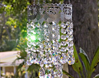 Wedding Chandelier Centerpiece Decoration, Lead Crystal Tealight Wedding Chandelier, Crystal Chandelier Candle Holder