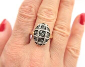 14k Yellow Gold Diamond And Tsavorite Ring Size 8 1/4 1.00 carat - Gemstones Ring