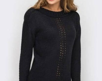 Fashion sweater Knitted Sweater  Autumn Sweater Woman sweater  Winter sweater Office evening sweater