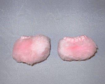 Barbie clone pink fuzzy bedroom Slippers