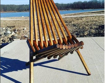Outdoor Furniture, Patio Chair, Dark Walnut Finish, Accent Chair,  Adirondack Chair,