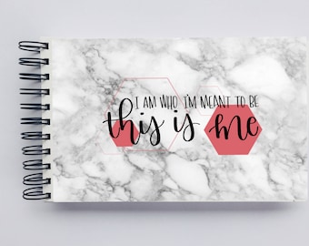 WIDE Undated Inspirational Planner - One Year Fill in Calendar Notebook - This is Me Weekly Planbook - Monthly Weekly Mom Boss Schedule