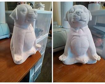 Modern Yoga Figurines Tabletop Zen Garden Statues Chalkware Dog
