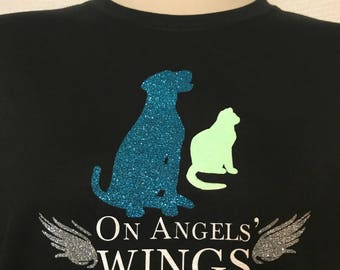 On Angels' Wings Pet Rescue Printed T-shirt