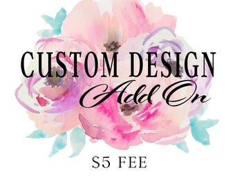 Custom Wording Add On. (Does NOT apply to Rhinestone Designs).
