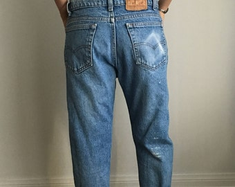 Rad Vintage Levi's 505, Slouchy Cropped Perfectly Distressed Jeans