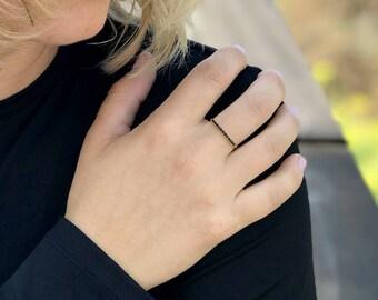 Goldring mit schwarzem stein  Onyx gold ring | Etsy