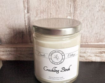 Organic Soy Candle- Cracklin Birch- Vegan Candles- Scented Candles- Eco-Friendly- Holiday Gifts