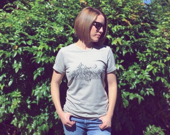 WANDERER Men's AND Women's Heather Tee, Unisex Tee, Not all those who Wander are Lost, Wanderer Tee, Wanderer