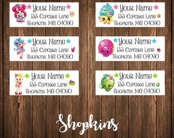 Shopkins Address Labels, Mailing Labels
