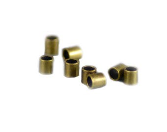 Crimp Tubes 2x2mm Antiqued Brass - 30 pieces