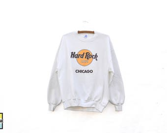 Vintage Hard Rock Cafe Chicago Crew Neck Sweatshirt