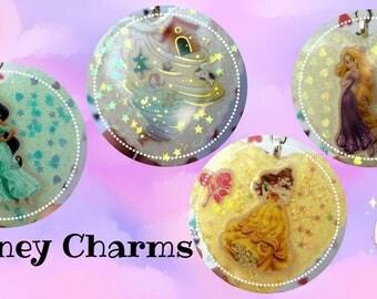 NEW - DISNEY Princess Resin Charms~