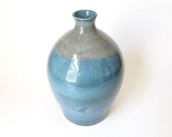 Wheel Thrown Vase, Ceramic Vase, Pottery Vase, Ceramic Flower Vase, Pottery Flower Vase, Teal Ceramic Vase, Green Ceramic Vase, Teal Vase