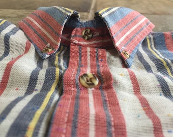 Vintage Cotton Striped Button Down Shirt Small Ivy League Trad