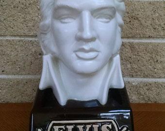 Elvis Head Decanter McCormick Distillery - Bob L. Harness - Americana Porcelain -  Bourbon Whiskey Decanter - Elvis 1935-1977 Bottle