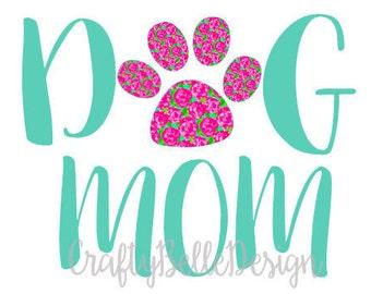 Dog Mom Decal | Dog Mom Car Decal | Dog Mom | Tumbler Decal | Yeti Decal | Macbook Decal | Dog Decal | Lilly Pulitzer inspired Decal | Vinyl