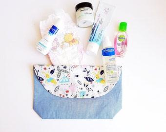 Pouch/Makeup Bag/ nappy pouch/ Nappy Bag / Diaper Clutch