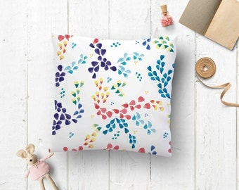 Pillow cover - Watercolor pillow - Floral pillow case - Cushion case dorm decor - Decor kids room idea - Bedding pillow cases