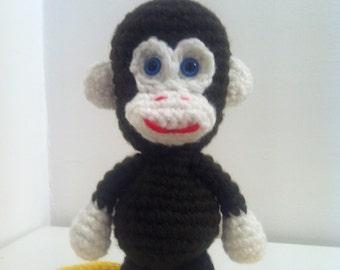 Monkey, Toy Monkey, Handmade Monkey, Amigurumi Monkey, Crochet Monkey, Stuffed Animal, Gift,  Present, Toy, Birthday Gift