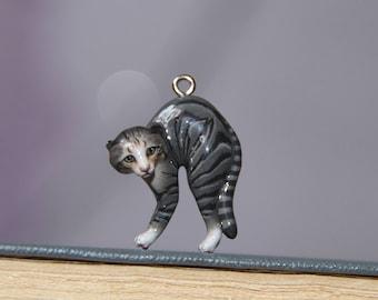 Cat Pendant Jewerly Cat Pendant Cat Necklace Kitten Pendant Kitten Necklace Kitten Charm Novelty Jewelry Kitty Pendant Kitty Necklace Animal