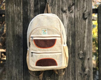 Handmade Pure Hemp backpack, Durable, Padded Laptop