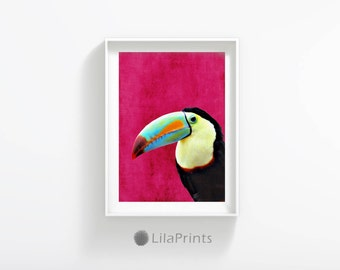 Toucan Picture, Tropical Birds Wall Art, Toucan Print, Tropical Bird Print, Toucan Photo, Toucan Art, Tropical Print, Bird Digital Print