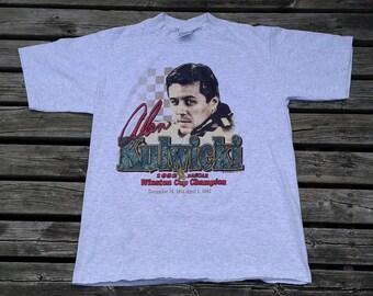 Vintage 1993 Alan Kulwicki 1992 Winston Cup Champion grey Made in USA t-shirt XL