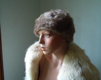 Costume Faux fur beanie - Vintage Faux fur beanie - Costume fur beanie - Vintage costume hat - Costume - Old costume hat - Female fur beanie