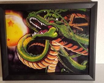 Dragon ball z wall art shenron