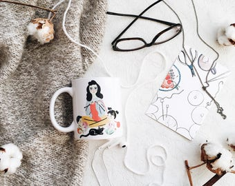 Knitting mug, knitters coffee mug, knit coffee mug, knit mug, mugs for knitters, knitters mug, unique,printed mug,ceramic, gift knitting mug