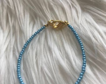 Blue Luster Stacking Bracelet