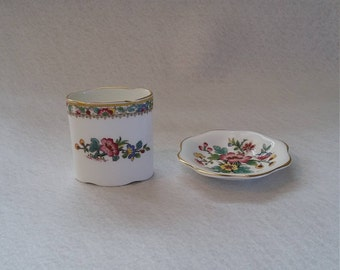 Coalport, Bone China, Dish and Pot, in the popular, Ming Rose pattern, Made in England