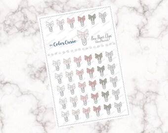 Bow Paper Clip Stickers - Warm / Neutrals