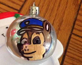 Handpainted Chase Ornament Paw Patrol Dog