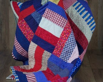 Patriotic Red, White & Blue Quilt