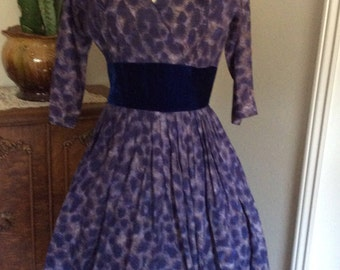 """Vintage R&K Original """"personally yours"""" Late 1940's 1950's  Dress"""