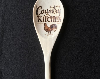 Wood Burned Spoon- Country Kitchen