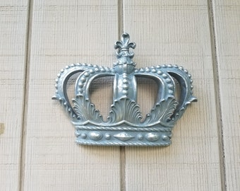 Attractive Grey Gold Crown, Wall Decor Nursery Decor, Crib Crown Canopy Wall Decor,  Ornate Part 25