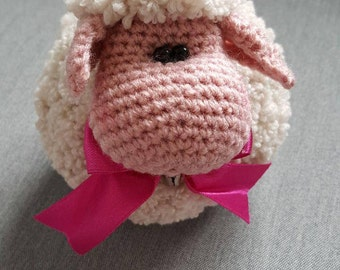 Amigurumi sheep, fuzzy sheep,crochet animal,crochet sheep toy,plushy animal,Häkeltiere,nursery decor,gift,ready to ship