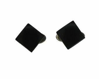 1930s Black Plastic Machine Age Vintage Cufflinks