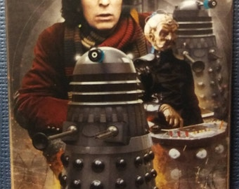 Dr. Who Tom Baker & the Daleks Fridge Magnet 2 x 3 inch